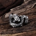 Vienna Jewelry Python's Stainless Steel Ring - Thumbnail 1