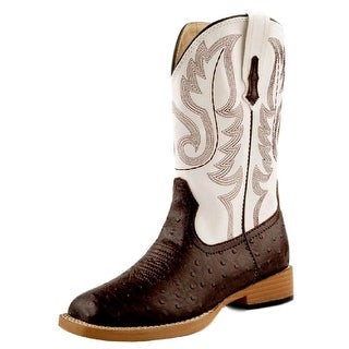 Roper Western Boots Boys Ostrich Faux Kids Brown