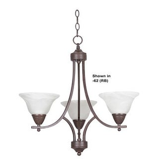 "Sunset Lighting F5163 Metropolitan 3 Light 300 Watt 21.5"" Width Chandelier"