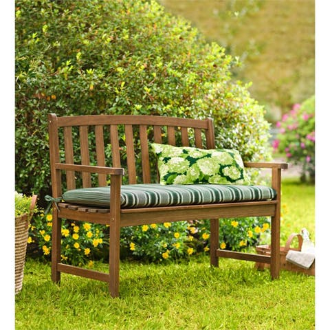 46-inch Lancaster Natural Eucalyptus Wood Garden Bench