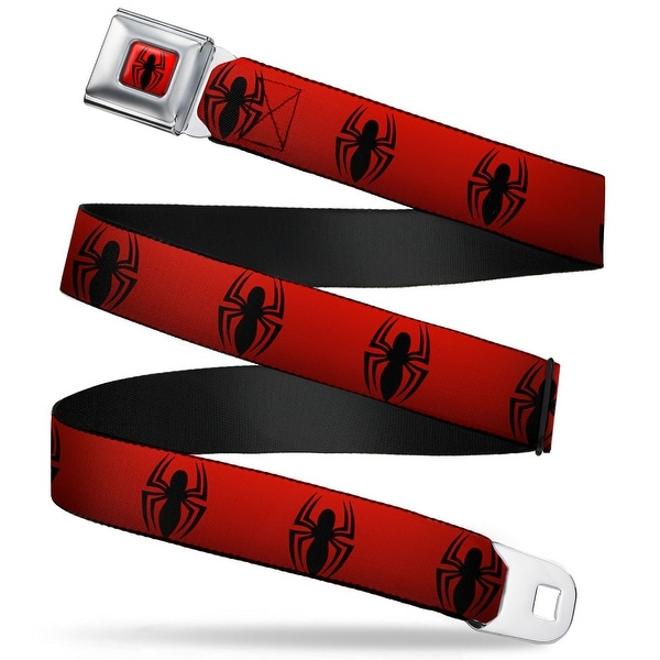"Ultimate Spider Man Spider Logo2 Full Color Red Black ""New"" Spider Logo Seatbelt Belt"