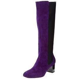 Studio Pollini Womens Suede Colorblock Knee-High Boots - 38.5 medium (b,m)