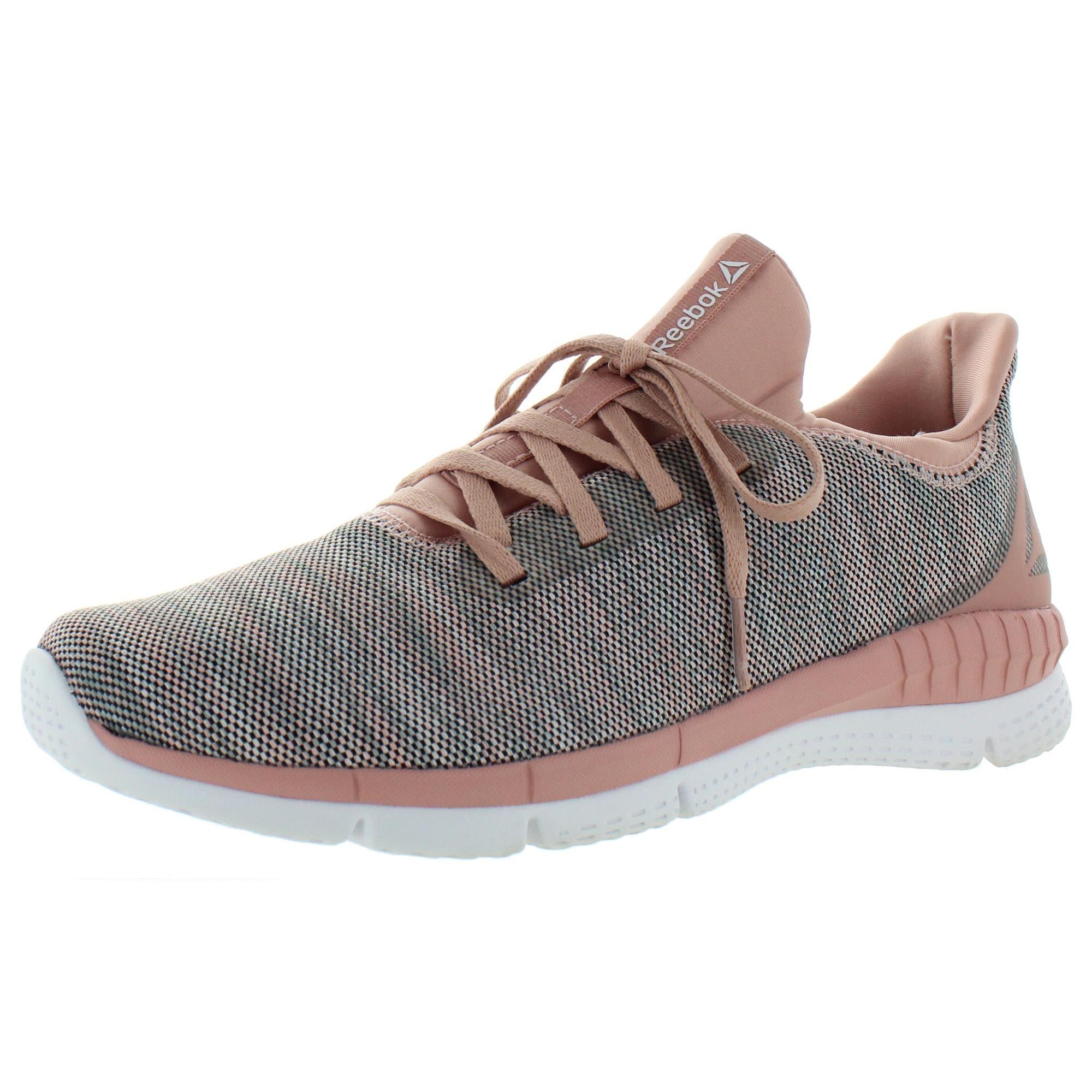 essenza Pilastro abuso  Shop Reebok Womens Sprint 2.0 Running Shoes Knit Low Top - Pink/Grey Multi  - Overstock - 31705172 - 6 Medium (B,M)
