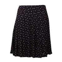 Lauren Ralph Lauren Women's Printed Pintucked Pleated Skirt (8, Black/Pearl) - Black/Pearl - 8