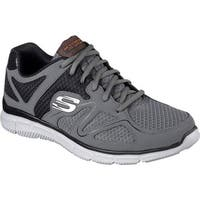 Skechers Men's Satisfaction Flash Point Trainer Charcoal/Orange