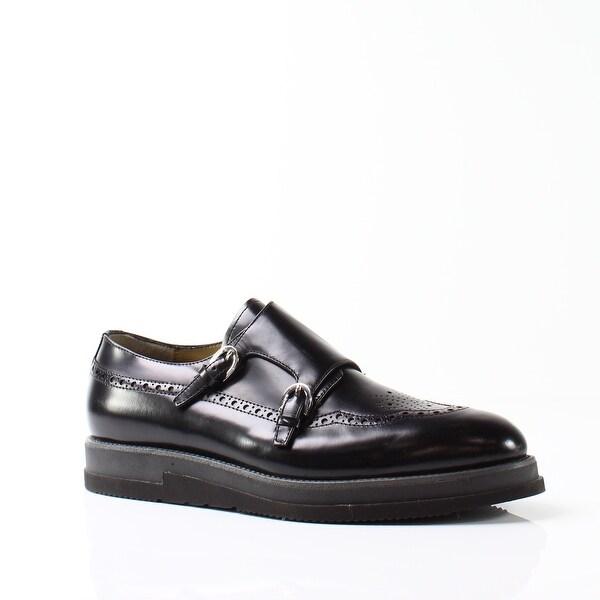 Cesare Paciotti NEW Black Men's Shoes Size 8M Monk Strap Oxford
