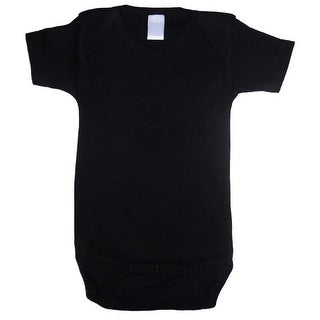 Bambini Baby Unisex Black Cotton Interlock One Piece Bulk Bodysuit 12-18M