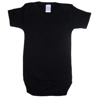 Bambini Baby Unisex Black Cotton Interlock One Piece Bulk Bodysuit 18-24M