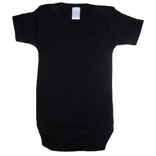Bambini Baby Unisex Black Cotton Interlock One Piece Bulk Bodysuit 3-6M