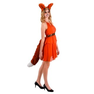 Deluxe Adult Costume Fox Ears - Orange
