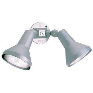 "Nuvo Lighting 77/703 Two Light 15"" PAR38 Exterior Flood Light with Adjustable Swivel - Gray"