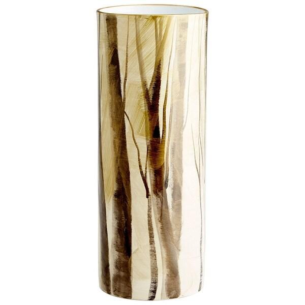 "Cyan Design 09877 Into The Woods 7"" Diameter Ceramic Vase - Woodland"