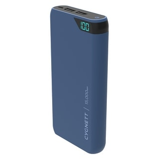 Link to Cygnett Chargeup Boost 15,000 mAh Dual USB 2.4A Power Bank - Navy Similar Items in Cell Phone Accessories