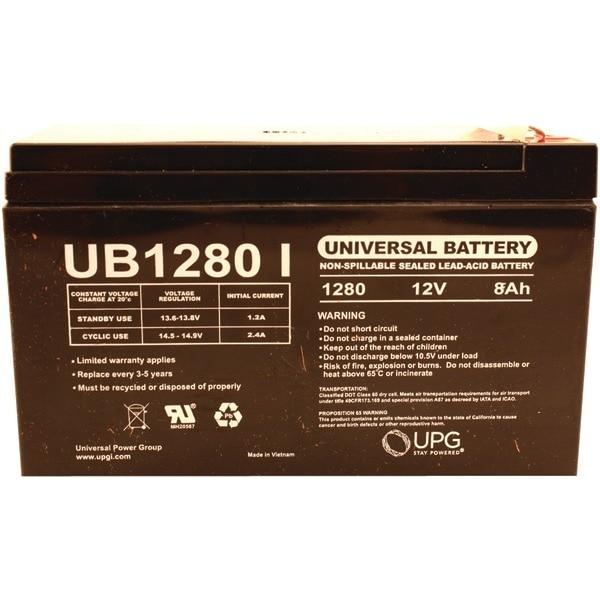 Upg 85989/D5779 Sealed Lead Acid Batteries (12V; 8Ah; .250 Tab Terminals; Ub1280F2)