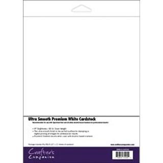 "White - Spectrum Noir Ultra Smooth Premium Cardstock 8.5""X11"" 50/Pkg"