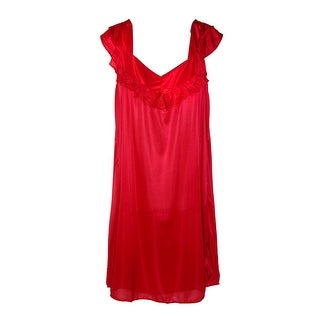 CTM® Women's Ruffle Front Nightgown (Option: Red)