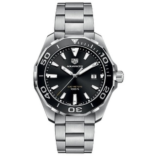 Link to Tag Heuer Men's WAY101A.BA0746 'Aquaracer' Stainless Steel Watch - Black Similar Items in Men's Watches
