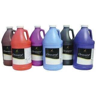 Chromacryl Premium Acrylic Paint, Assorted Secondary Colors, Half Gallons, Set of 6