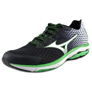 Mizuno Wave Rider 18 Men Round Toe Synthetic Black Running Shoe