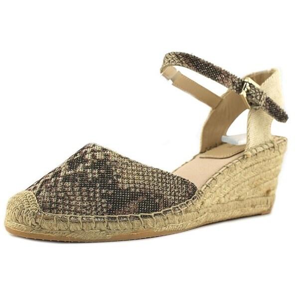 Botkier Elia Women Open Toe Synthetic Gold Wedge Sandal
