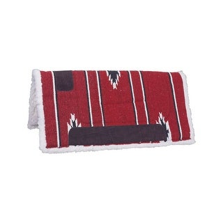"Tough-1 Western Saddle Pad Square Fleece Felt 30"" x 30"" Red"