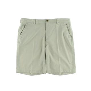 Izod Mens Moisture Wicking Classic Fit Khaki Shorts - 32