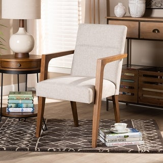 Link to Andrea Mid-Century Modern  Wood Armchair Similar Items in Accent Chairs