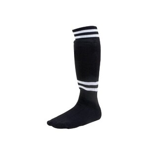 Champion Sports SL4W Sock Style Soccer Shin Guard (For Ages 4-6/Black) - Black