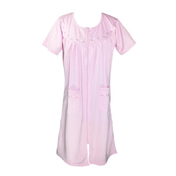 CTM® Women's Zip Up Duster Housecoat Robe