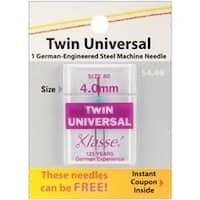 Size 4.0Mm/80 1/Pkg - Klasse Twin Universal Machine Needle