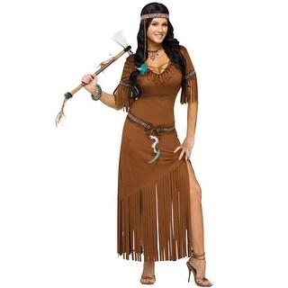 Fun World Indian Summer Adult Costume - Brown