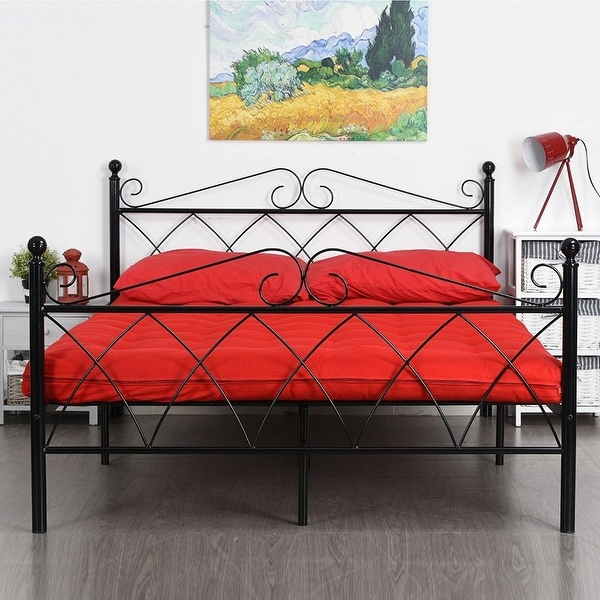 Shop Platform Metal Bed Frame Foundation Headboard