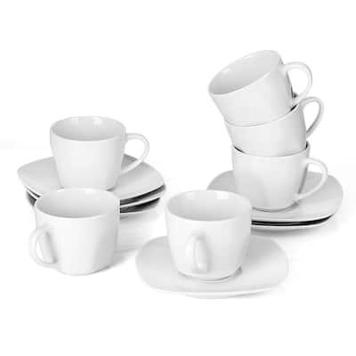 Elisa Espresso Cup and Saucer (Set of 6)
