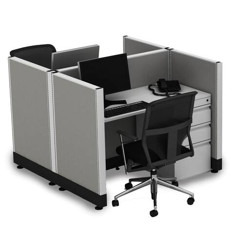 Small Office Cubicles 39H 2pack Cluster Unpowered