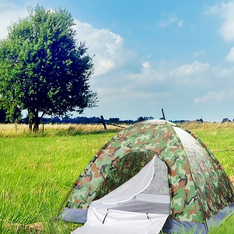 Outdoor Camping Dome Tent Camouflage 3-4 Person