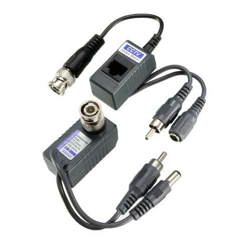 Video Balun Transceiver CCTV Cemara Video Audio Power Passive YJS-1201AVP 1pair - YJS-1201AVP , 1pair
