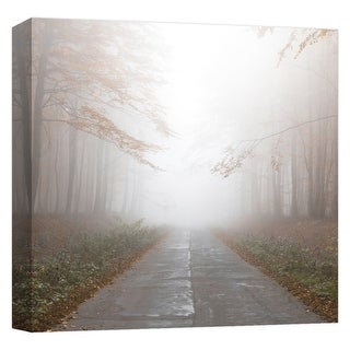 "PTM Images 9-124637  PTM Canvas Collection 12"" x 12"" - ""Foggy Road III"" Giclee Forests Art Print on Canvas"