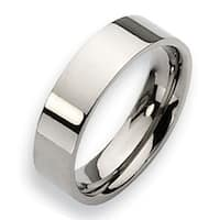 Chisel Flat Polished Titanium Ring (6.0 mm)