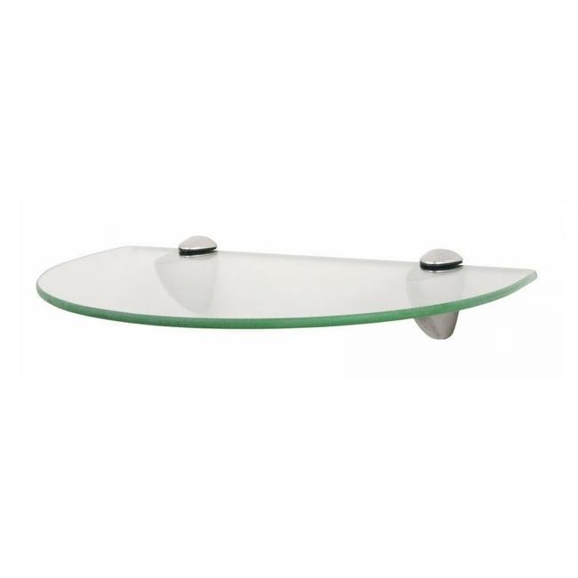 Knape & Vogt KT-0134-812SN Circle Glass Shelf Kit, Satin Nickel, 8 x 12