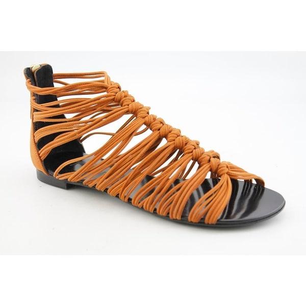 Thakoon WE0003 Women Open Toe Leather Brown Gladiator Sandal