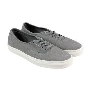 Vans Authentic Mens Gray Canvas Lace Up Lace Up Sneakers Shoes