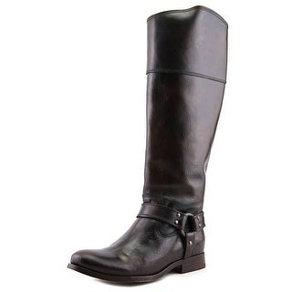 Frye MELISSA HARNESS Women Round Toe Leather Brown Knee High Boot