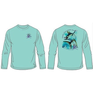 Altered Latitudes Mens Jumpin Yellowfin Tuna T-Shirt, Sea Grass, L