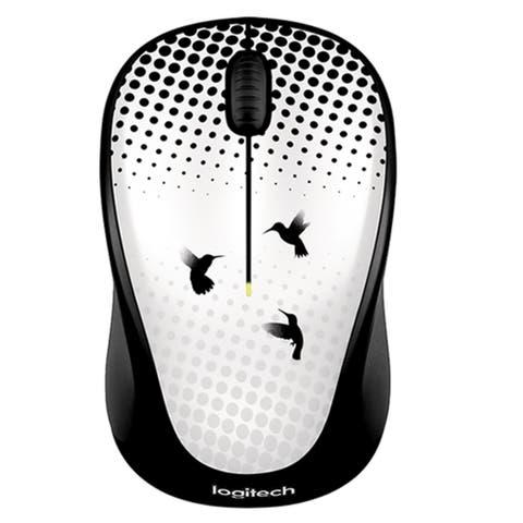 Logitech Wireless Mouse M317 Humming Dance - Black - 7.6 x 4.7 x 3.6
