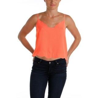 Lush Womens Juniors Crepe Cropped Tank Top