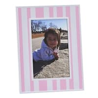 Creative Gifts 023048 Pink & White Striped 4 x 6 in. Photo Frame