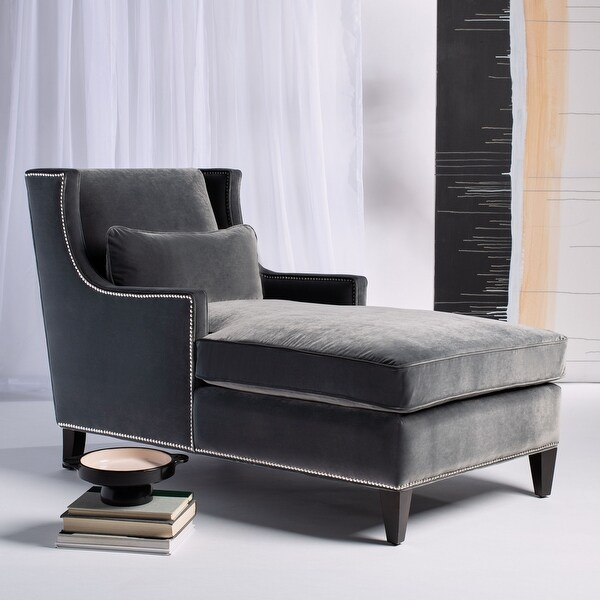 """Shop Safavieh Couture Vitali Studded Chaise - 33"""" W x 61 ... on Safavieh Chaise Lounge id=31068"""