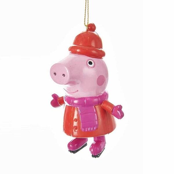 Peppa Pig Blow Mold Christmas Ornament Peppa Pig Wearing Scarf