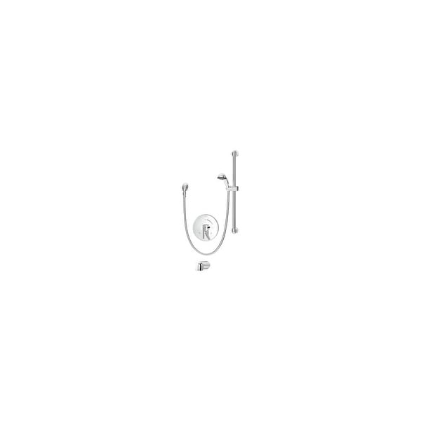 Symmons S-3504-H321-V-CYL-B-TRM Dia Tub and Shower Trim Package with Single Function Hand Shower and Temptrol - Chrome