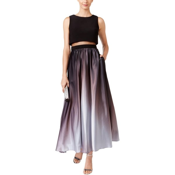 Shop Betsy Adam Womens Petites Semi Formal Dress Ombre Popover